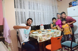 Host family in Tirabolu