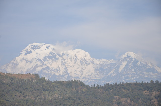 Dhaulagiri (8,167 m), from 70 km distance, from south-east (Pokhara)