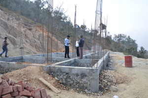 Rebuilding a new school. 3rd school visited (5 hours from Kathmandu)